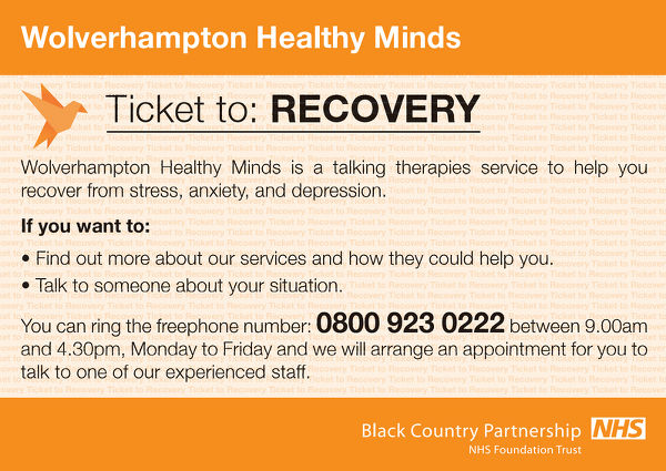 About Our Service Wolverhampton Healthy Minds